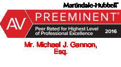 Martindale-Hubble preeminent peer rating