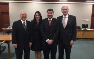 The Affolter Gannon team at Andrew's swearing in