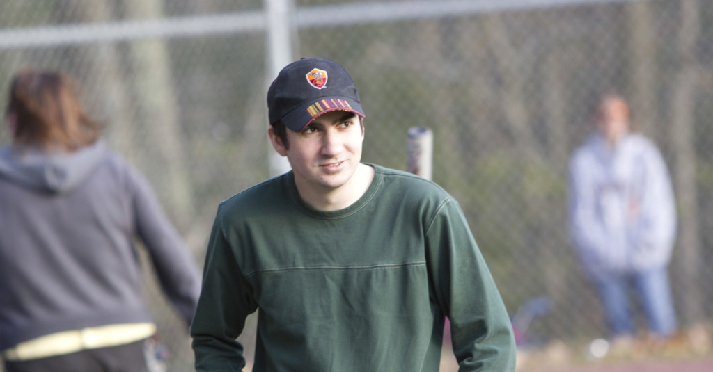 Andrew Gannon at the ballfield